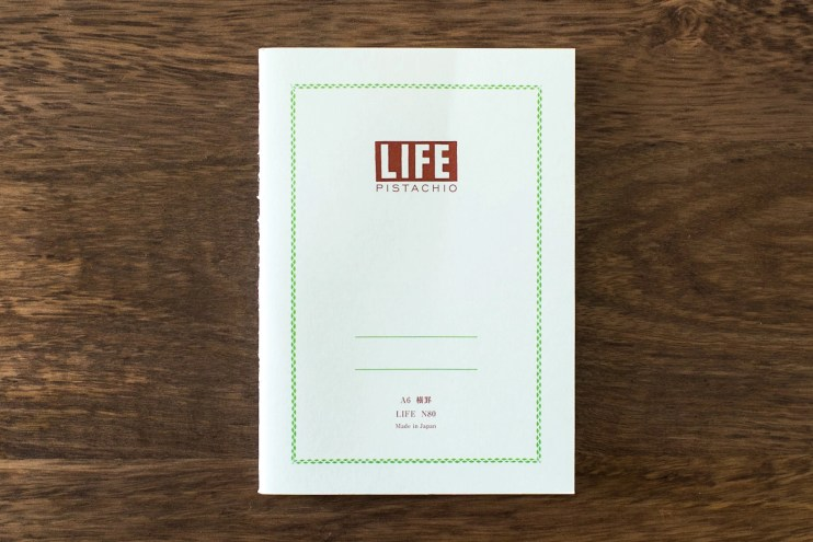 life pistachio notebook fountain pen friendly paper