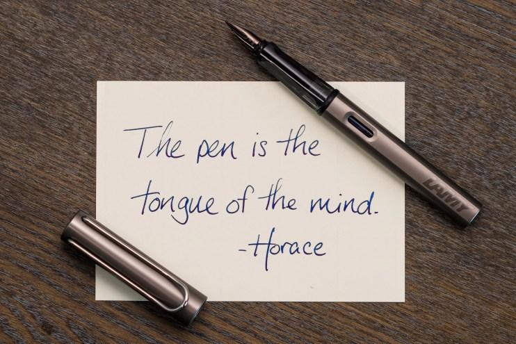 fountain pen handwritten quote