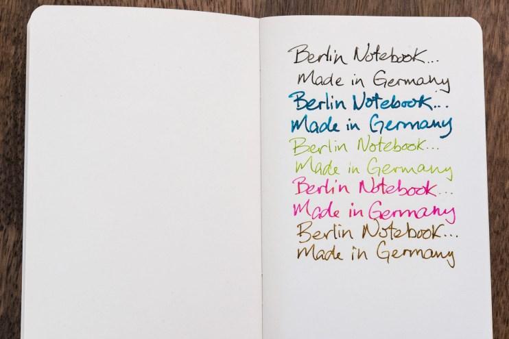berlin notebook fountain pen friendly paper writing detail
