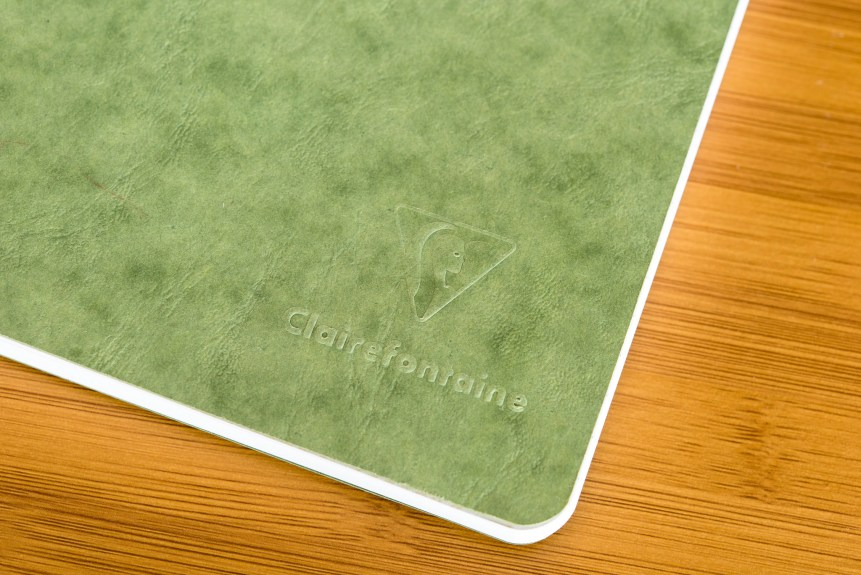clairfontaine basic clothbound notebook review front cover detail