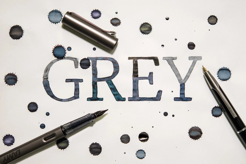 grey fountain pen ink