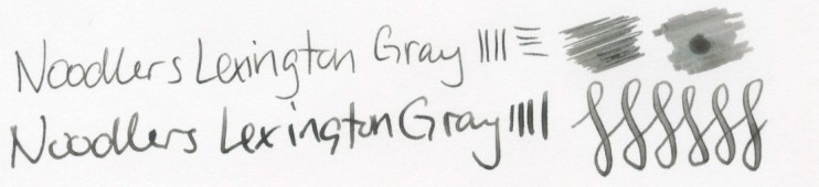 Noodlers Lexington Gray writing sample