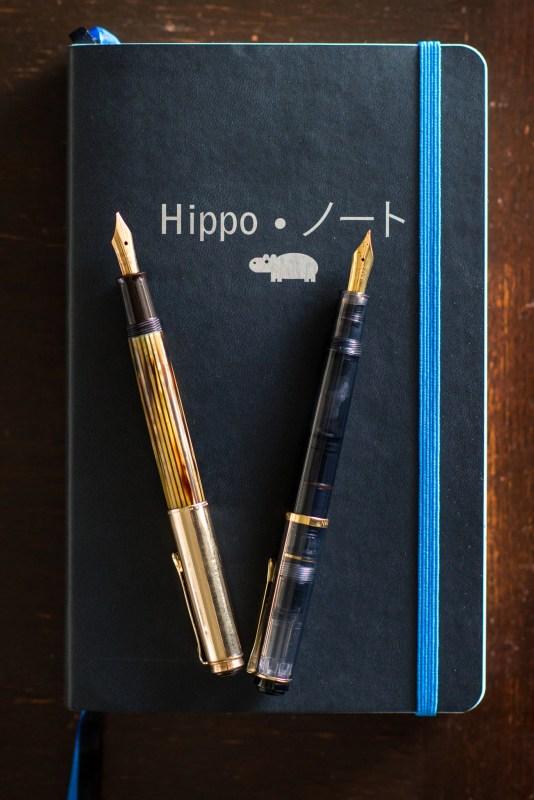 hippo noto fountain pen journal
