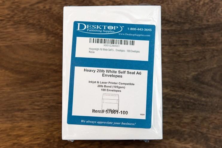 fountain pen friendly envelopes packaging