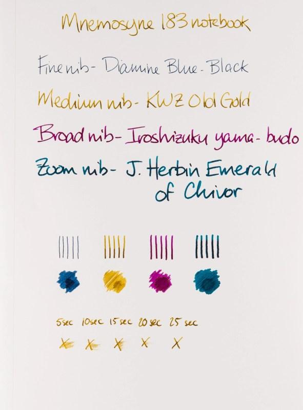 Maruman Mnemosyne Notebook Review shading