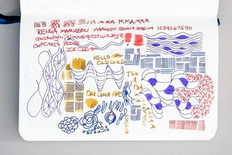 Fountain Pen Fun Notebook experiment