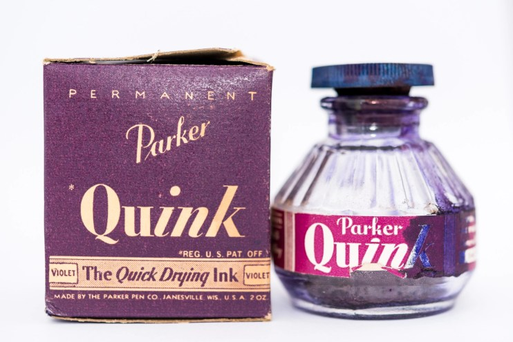 Identifying Vintage Fountain Pen Ink Bottles and Boxes quink cork bottle