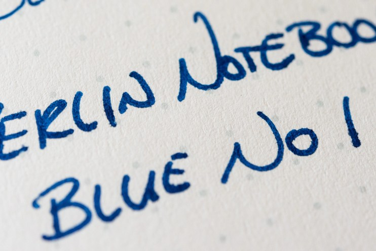 Berlin Notebook Blue No 1 Fountain Pen Ink baron fig