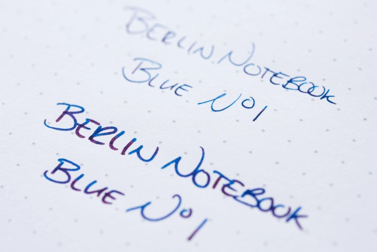 Berlin Notebook Blue No 1 Fountain Pen Ink rhodia
