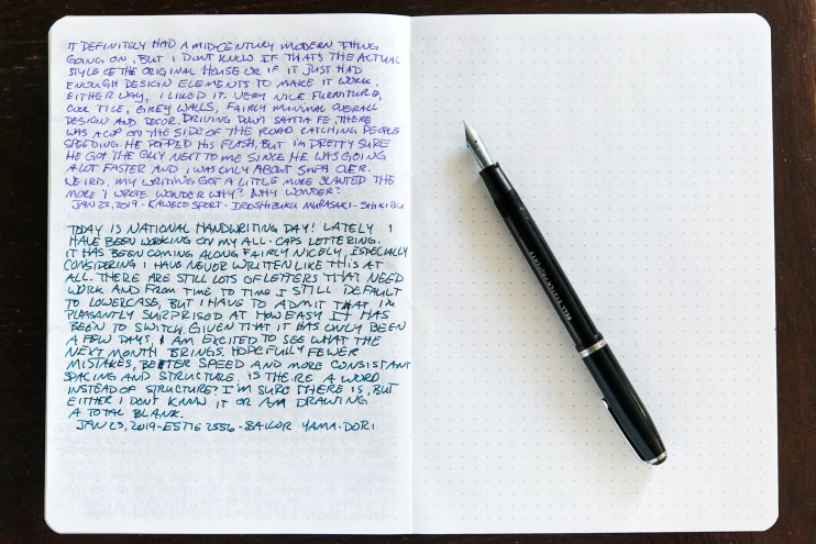 fountain pen and elia note journal