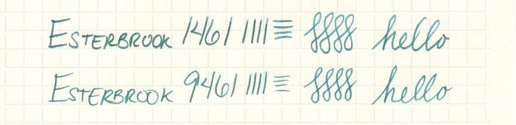 Esterbrook nib writing sample 9461
