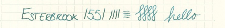 Esterbrook nib writing sample 1551