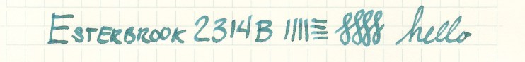 Esterbrook nib writing sample 2314B
