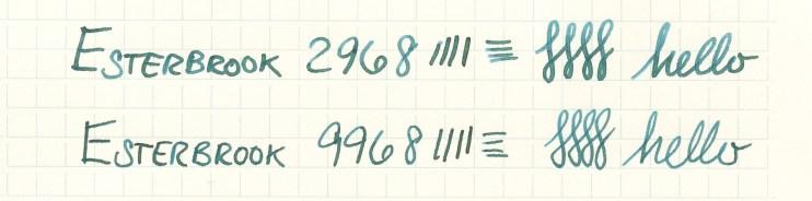 Esterbrook nib writing sample 9968