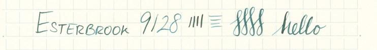 Esterbrook nib writing sample 9128