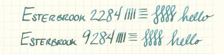 Esterbrook nib writing sample 9284