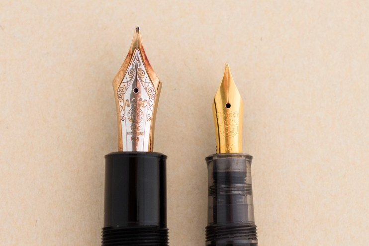 expensive versus inexpensive fountain pen difference large gold nib