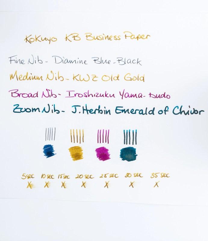 kokuyo kb paper test page shading