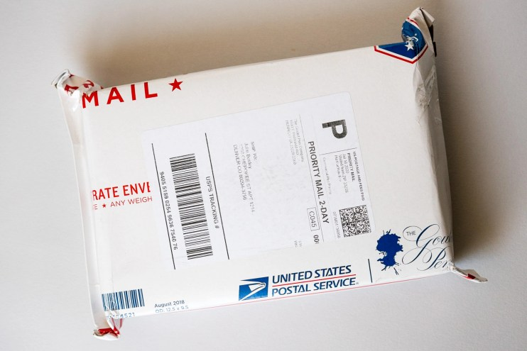 goulet pens shipping envelope
