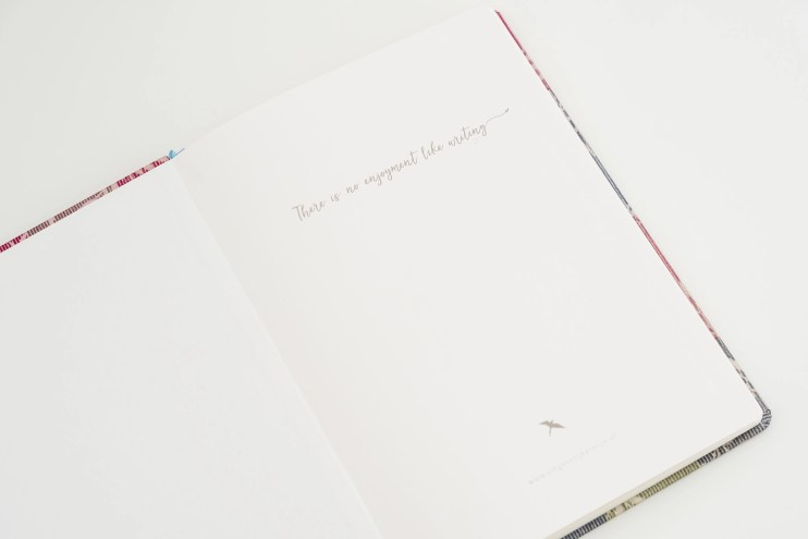 Carmynes Journal notebook endpaper quote