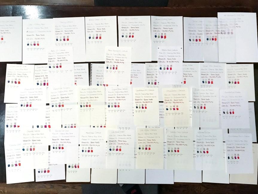 fountain pen friendly paper test