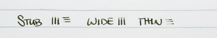 choosing a fountain pen nib for beginners stub writing example