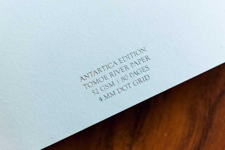 Pebble Stationery Antartica Notebook inside cover