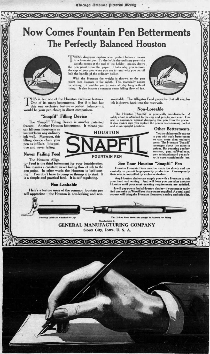 Snapfil Ad - July 1918