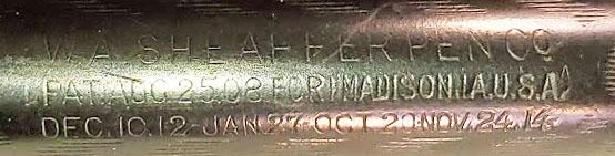 Sheaffer Imprint #4 -- W.A. Sheaffer Pen Co