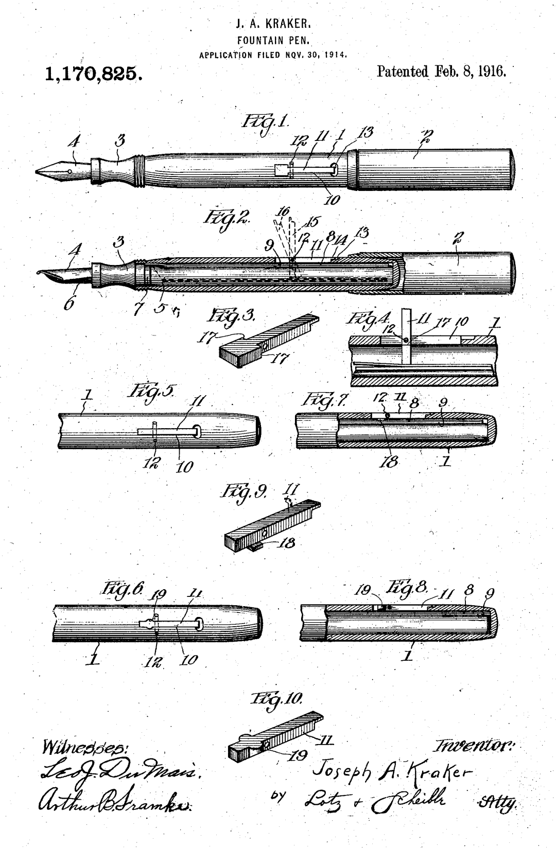 Artwork for US Patent 1,111,501 by Albert Scheible