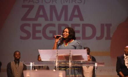 Pastor Zama Segbedji Ministers on The Garment of Praise