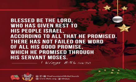 Promise For The Week – 1 Kings 8:56