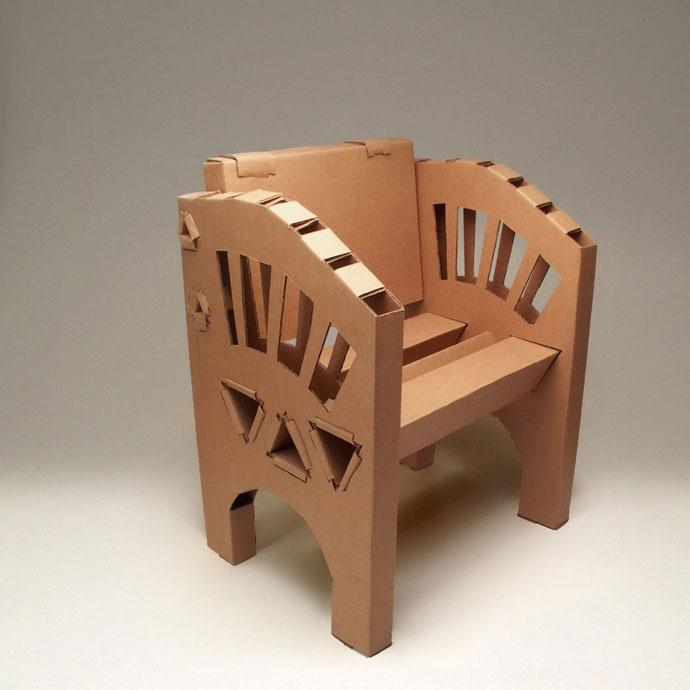 100% Recyclable Cardboard Furniture Design Ideas