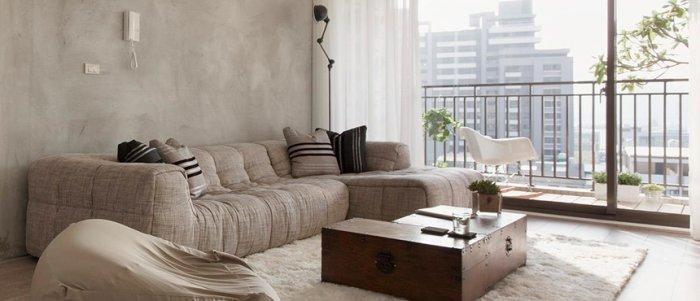 Japanese Minimalist Apartment Interior Design by Fertility Design   Founterior