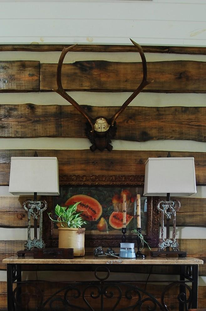 The Rustic Interior Design Of A Mountain Log Cabin In
