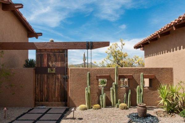 luxury rustic family desert house
