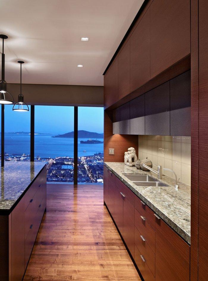 Luxurious HighRise Interior with Skyline View  Founterior