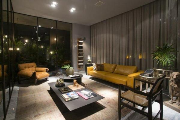 modern loft living room Artwork and Contemporary Interior Design in a Modern Loft | Founterior