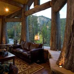 Living Room Paint Colors 2019 Focal Point Impressive Rustic Cabin And Cottage Interior Designs ...