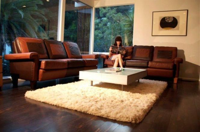 Modern Brown Leather Couch Photos