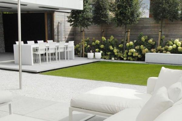 minimalist garden and landscape