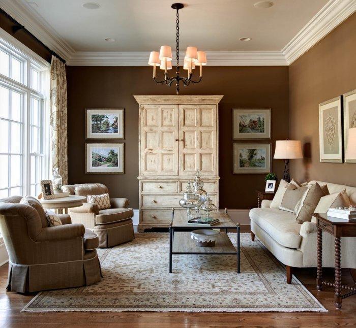 16 Brown Living Room Charming Interior Designs   Founterior