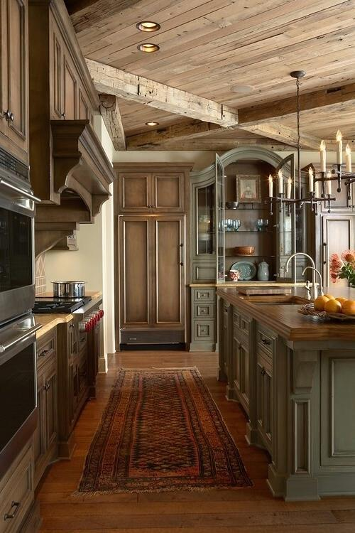 cost to paint kitchen cabinets professionally pensacola impressive rustic cabin and cottage interior designs ...