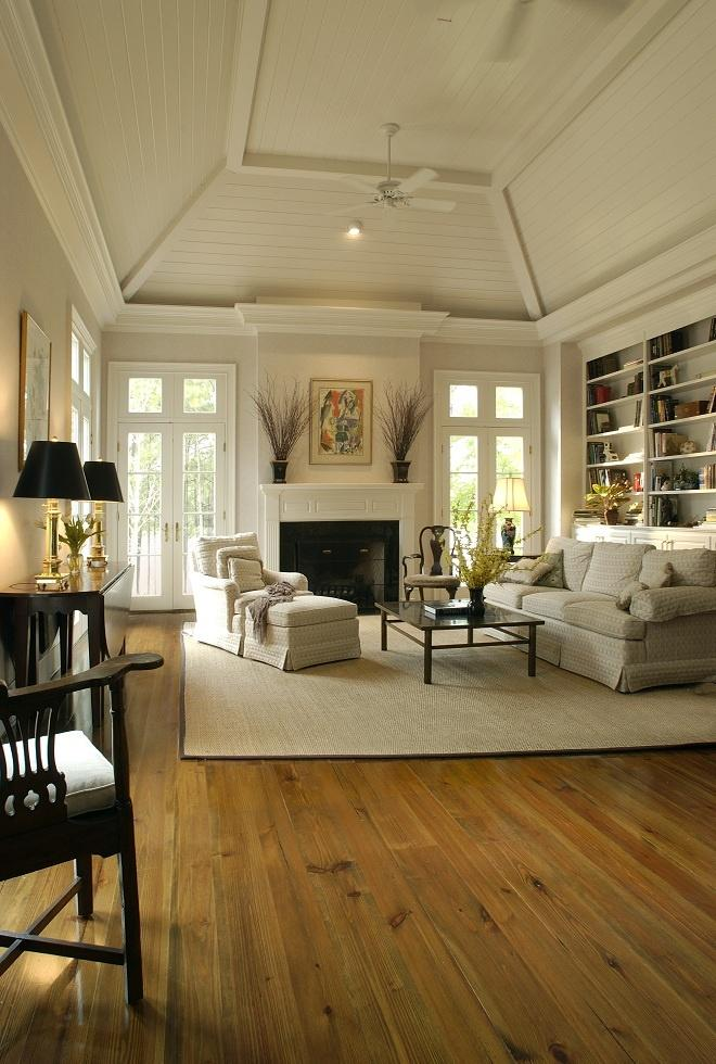 Light grey living room paint  inside a country traditional home   Founterior