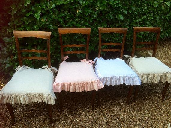 shabby chic chair pads for outdoor