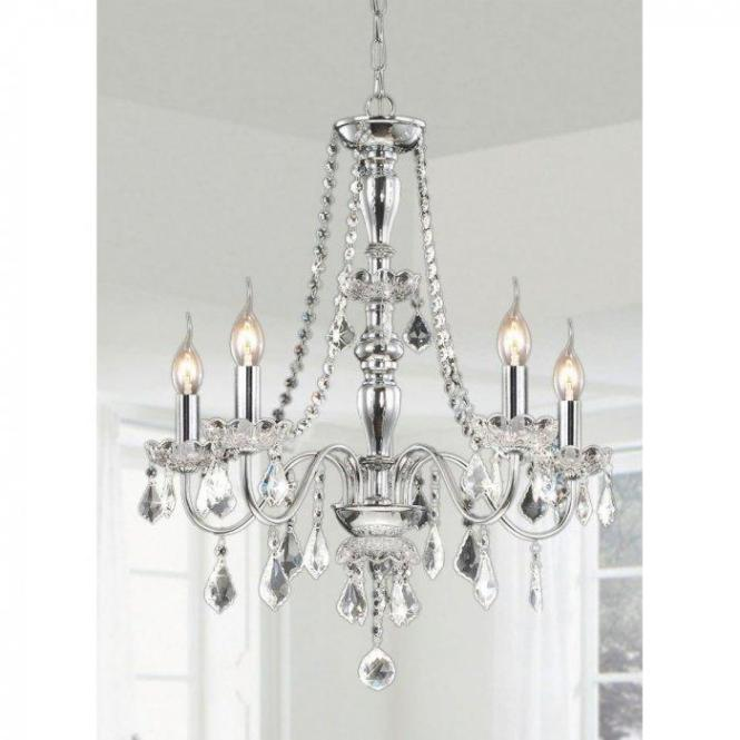 Classic Crystal Chandelier With Light Bulbs
