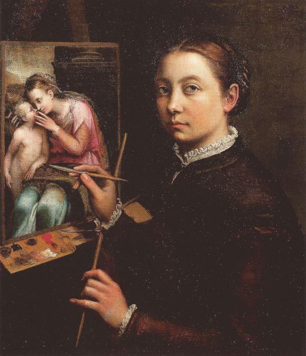 «Автопортрет в стиле станковой живописи», Софонисба Ангвиссола