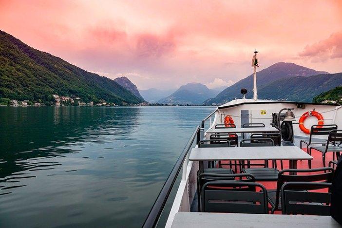 Ледниковое озеро Лугано, Швейцария