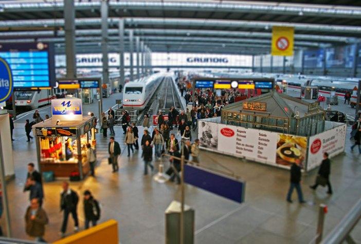 На поезде в Зальцбург: Центральный вокзал Мюнхена