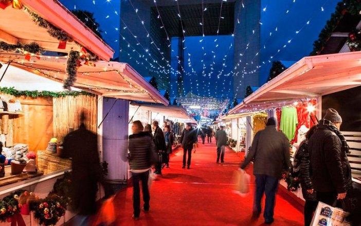 Ярмарки Парижа в канун Рождества: Le marché de la Défense